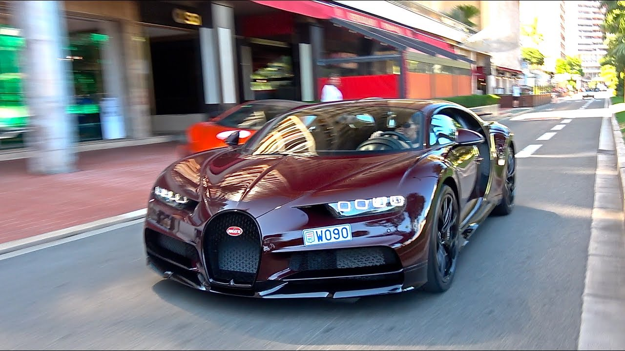 4million Red Carbon Bugatti Chiron In Monaco Monaco