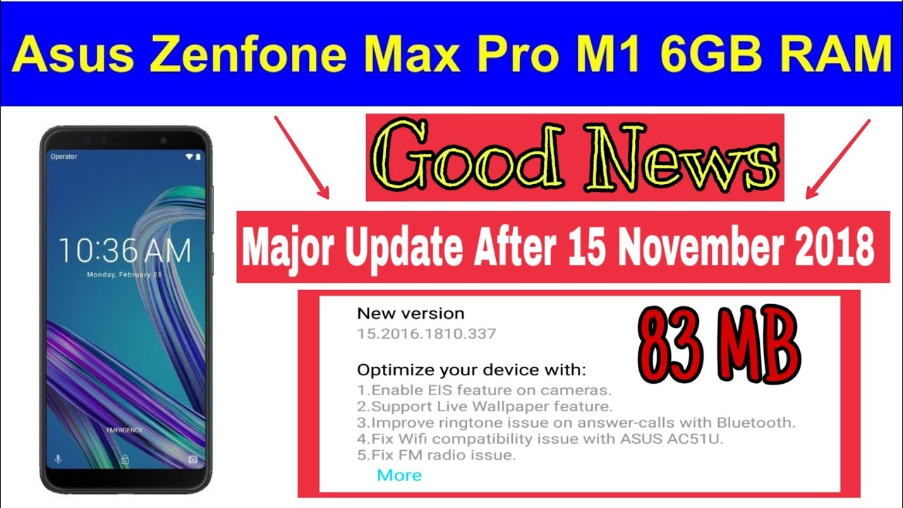 New Update after 15th Nov, 2018 - EIS, Live Wallpaper Asus ZenFone Max Pro M1🔥 - YouTube