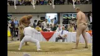 Вице-чемпион мира по сумо Дмитрий Слепченко, Всемирные игры 2013 в Колумбии