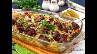 Запечённая картошка со свиными рёбрышками