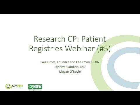 Research CP Webinar #5 - Patient Registries