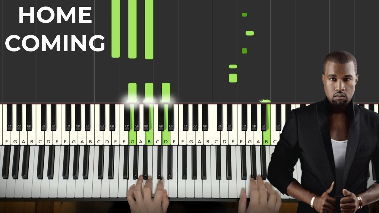 Kanye West - Homecoming (Piano Tutorial Lesson) - YouTube