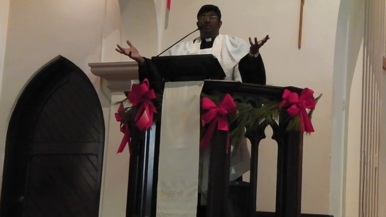 Rev Dr Clive E Samson at Trinity Episcopal Church, Elucid, MO 30th Dec 2018