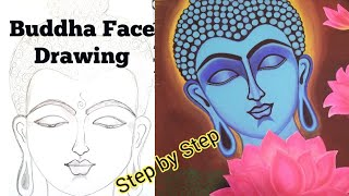 How to draw Buddha face | Step by Step tutorial