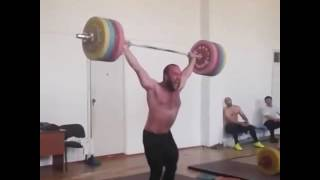 Ruslan Nurudinov snatch 205 World Record Training Rio Olympic Games 2016