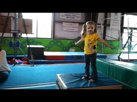 3 year old's obstacle course at Bright Stars Academy