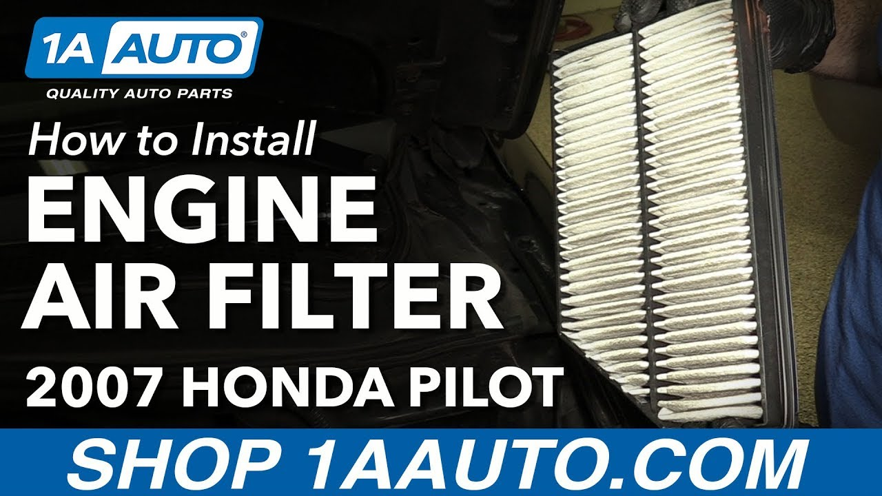 how to replace engine air filter 03-08 honda pilot