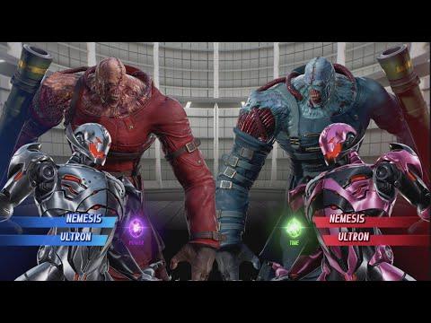 Nemesis and Ultron vs Nemesis and Ultron - MARVEL VS. CAPCOM: INFINITE |