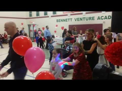 Bennett Venture academy school fun with Dj Javi