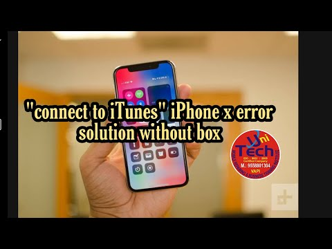 "iPhone X 8 error ""connect to iTunes"" solve with iTune"