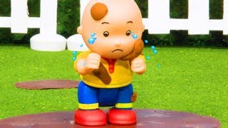🌈 Caillou gets muddy 🌈  Funny Animated Kids show | Caillou Stop Motion