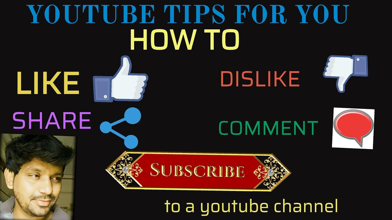 HOW TO CLICK LIKE DISLIKE SHARE SUBSCRIBE BUTTON A VIDEO ON A YOUTUBE  CHANNEL