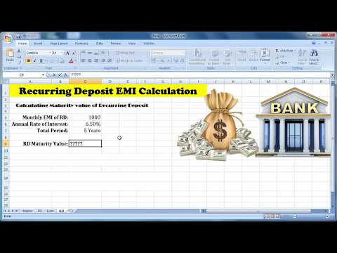 Recurring deposit maturity value calculator