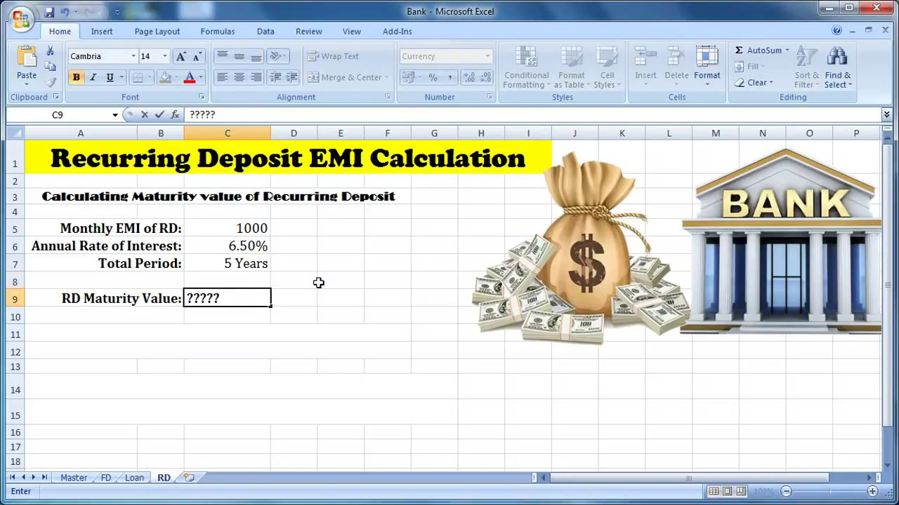 Recurring deposit maturity amount calculator