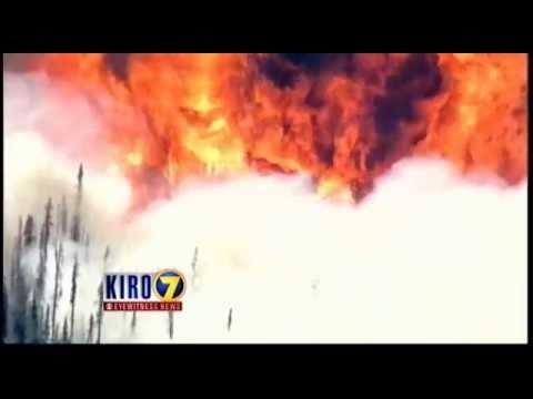 Chopper 7 over Washington wildfires, July 17, 2014