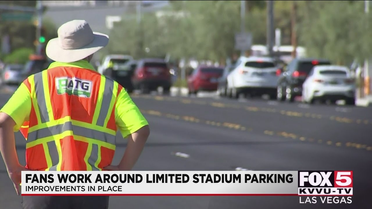 Ongoing improvements in place for parking at Allegiant Stadium