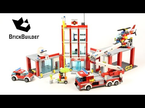 Lego City 60110 Fire Station Lego Speed Build Youtube