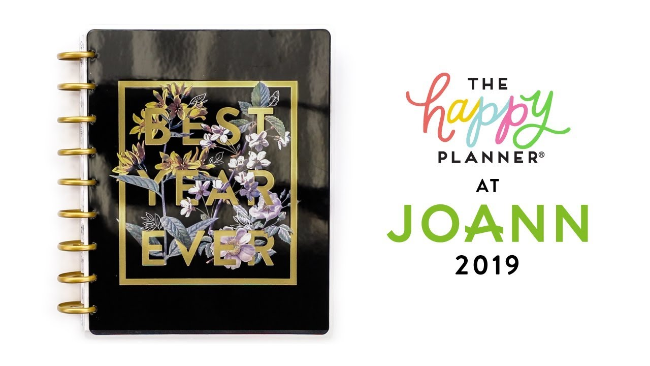 2019 Spring REVEAL! // JOANN 18-Month Happy Planners!