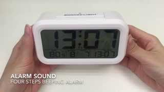 JCC automatic night glow digital alarm clock Unboxing and review - 3019 screenshot 2