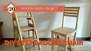 DIY Step Ladder Chair