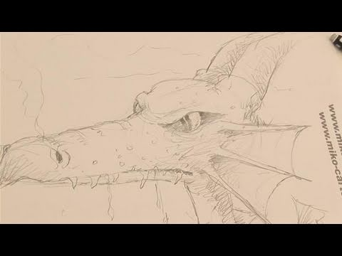 How To Do A Dragon Head Drawing