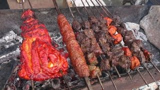Indian Street Food - Street Food in Mumbai - Tandoori & Seekh Kebabs