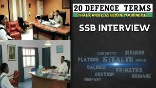 20 Crucial Terminology asked in SSB interview | SSB personal interview questions