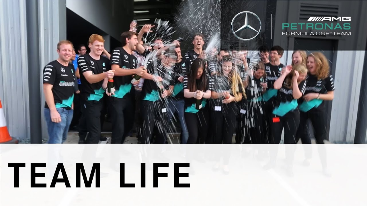 Mercedes put on epic party to celebrate F1 constructors' title