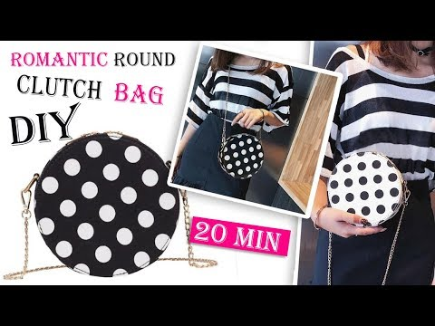 DIY CUTE DOTS ROUND PURSE BAG // Crossbody Bag Tutorial No Sew