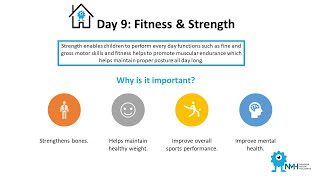Daily programme for Kids @ home #9 Fitness & Strength