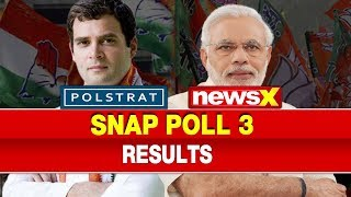Lok Sabha Elections 2019: NewsX Polstrat Snap Poll 3 Results, BJP vs Congress, PM Narendra Modi