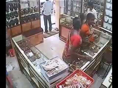 Shoplifting in Gold Shop