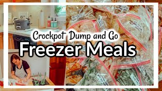 FREEZER TO CROCKPOT MEALS 2019 | WHATS FOR DINNER | FREEZER MEAL PREP | MAMAS TIMEOUT
