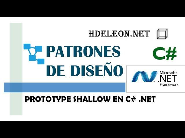 Prototype shallow en C# .Net   Patrones de diseño   design patterns   #2