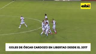 Goles de Óscar Cardozo desde su llegada a Libertad en 2017