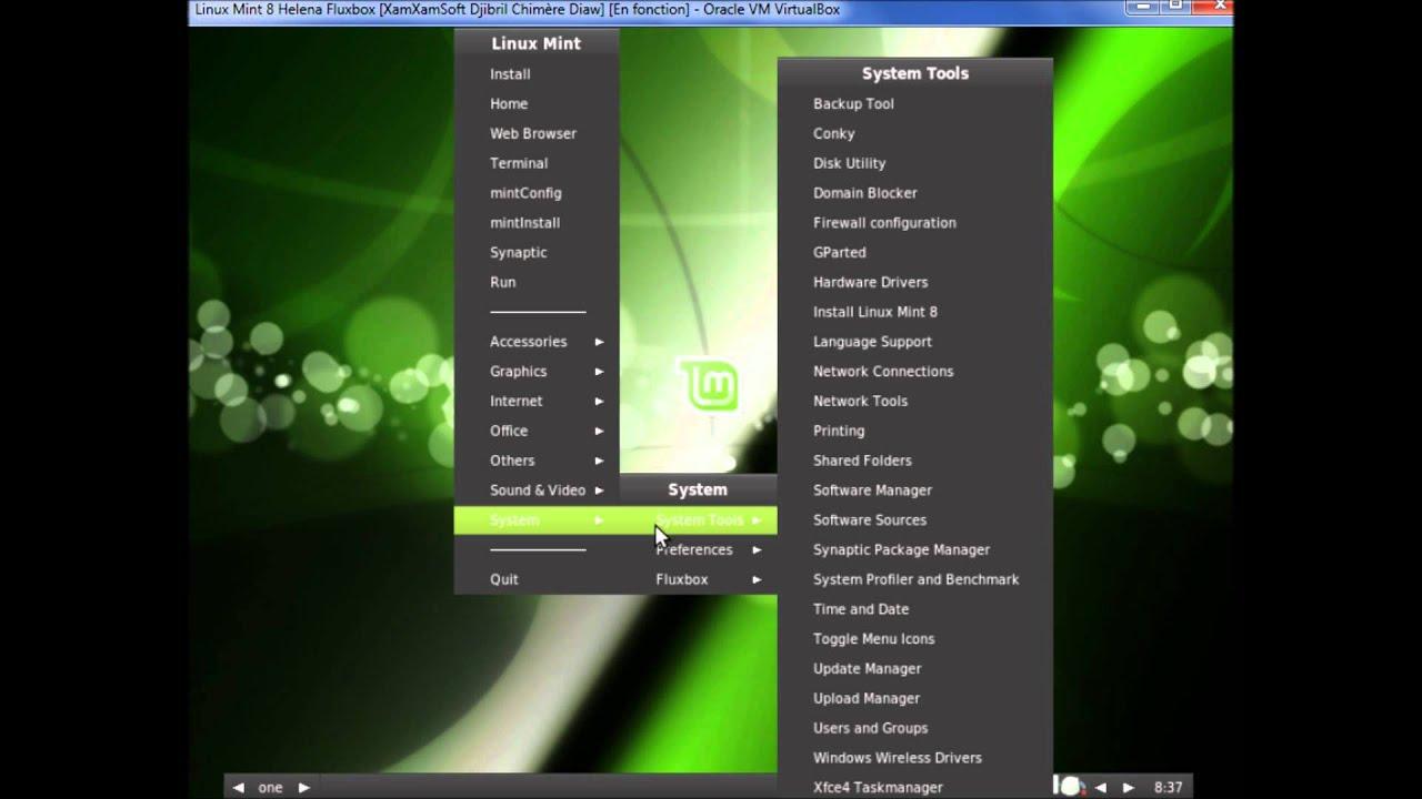 Linux Mint 8 Helena Fluxbox Presentation ( Linux Mint Fluxbox Evolution)