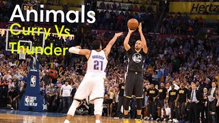 Curry Vs Thunder Mix Animals Maroon 5