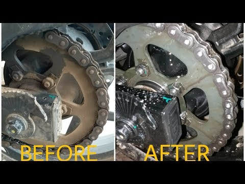 Pulsar RS200 Chain Cleaning And Lubricating