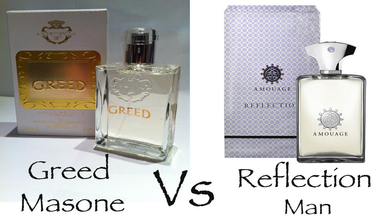 Amouage Reflection Man Vs Greed By Masone Fragrance Review Youtube