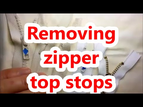 How to remove zipper top stops