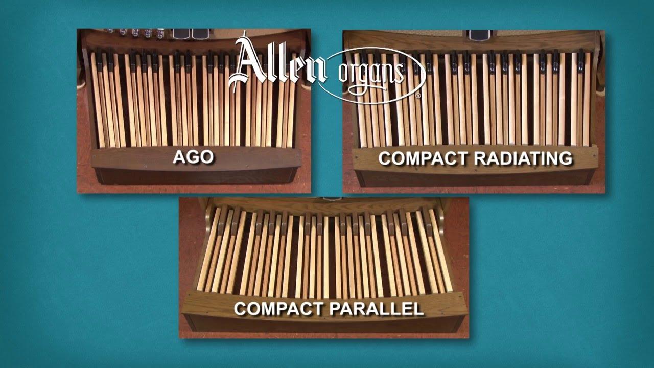 Allen Organ Pedalboard Comparison: AGO and Compact