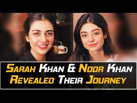 SARAH KHAN and NOOR KHAN LIVE   Beautiful Sisters   First Time Together