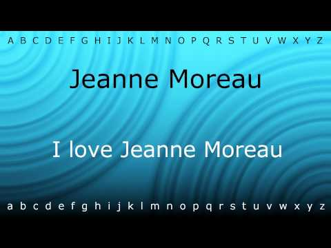 How to pronounce 'Jeanne Moreau' with Zira