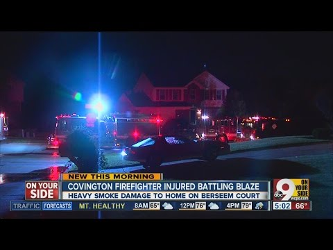 Ky. firefighter injured while battling house fire