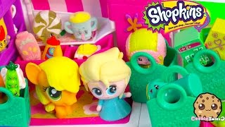 Shopkins Season 3 Unboxing With Fash'ems Toys Disney Frozen Queen Elsa & MLP Applejack In RV Part 2