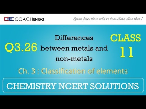Classification of Elements Q3 26 Chapter 3 CHEMISTRY NCERT Solutions Class  11