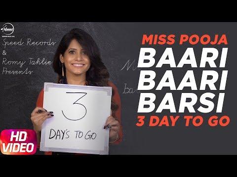 Baari Baari Barsi | 3 Day To Go | Miss Pooja | Releasing on 23rd Sep 2017 | Speed Records