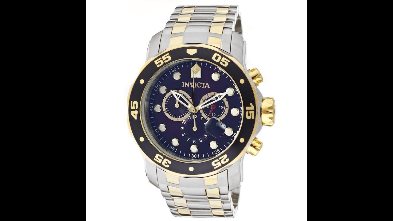 1301bdbf413 Invicta 0077 Men s Scuba Pro Diver II Collection Chronograph Watch Review  Video