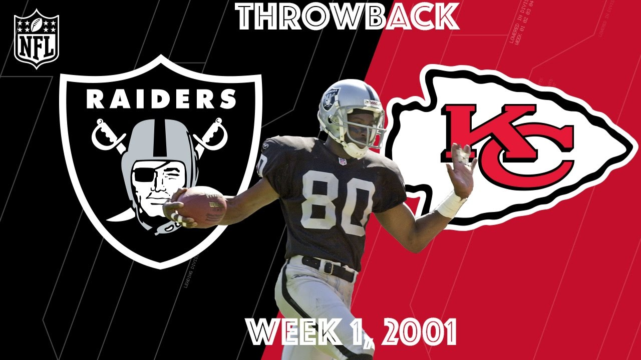 buy online 38eb2 805ca Raiders vs. Chiefs 2001   Jerry Rice s First Game in Silver   Black   NFL  Classic Highlights - YouTube