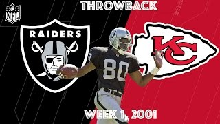 Raiders vs. Chiefs 2001 | Jerry Rice's First Game in Silver & Black | NFL Classic Highlights